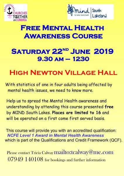 Churches Together - Mental Health Poster 22 June